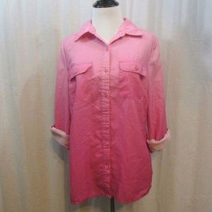 Kim Rogers Pink Ombre Button Up Top PM